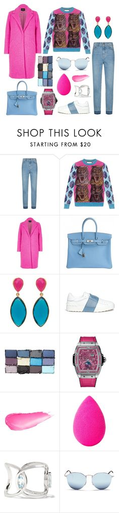 """They've got nails, I've got claws"" by theodor44444 ❤ liked on Polyvore featuring Maje, Gucci, River Island, Hermès, Valentino, Hublot, beautyblender, Delfina Delettrez and Ray-Ban"