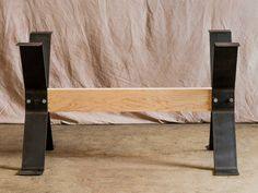 Trestle-Style Steel Dining Table Legs FREE by TimberForgeWoodworks