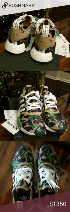 c47b295c77d71 Bape NMD Green Camo super limited release around the world. AUTHENTIC with  receipt from korea Bape flagship store. Adidas Other