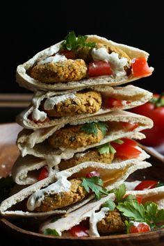 Vegan Gluten-free Oil-free Baked Falafel | The Vegan 8