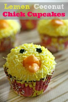 Lemon Coconut Chick Cupcakes - Frugal Mom Eh!