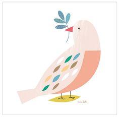 <p>Affiche Oiseau, format carré , <span>papier cartonné </span>, délicat dessin d'une colombe où l'on retrouve l'univers Minilabo et toute sa poésie, design Mini Labo pour Atomic Soda. Pour décorer sa chambre ou offrir à ses amis. On aime cette ambiance douce et pacifique !</p>