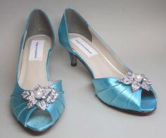 Tiffany Blue Wedding Shoes Low Heel