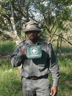 It is now such a dangerous job protecting rhinos that rangers need to have first aid kits before they go into the field