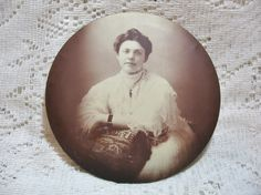 Victorian Lady Image Button Photo SOLD
