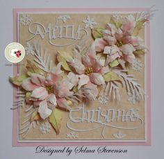 These poinsettias as absolutely pretty in pink! Join Selma Stevenson on the blog this morning to learn more about her card: http://wp.me/p4kQzc-5n4.