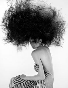 another girl who used the hair dryer tornado vortex thingie - Found on fashionfaves.tumblr.com via Tumblr #hair