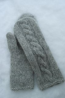 martine cabled mittens