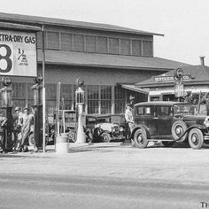 Vintage Gas Stations – A Look Back at Service Stations in the Past: Gas for only 8 1/2 cents a GALLON!! See this station and over 125 more vintage gas station photos on The Old Motor at: http://theoldmotor.com/?p=133245