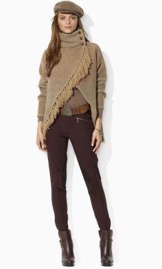 Beautiful sweater ~ love the high collar Stylish Outfits, Cute Outfits, Fashion Outfits, Love Fashion, Womens Fashion, Style Fashion, Fashion Ideas, Kids Fashion, Blazers