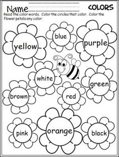 Kindergarten Spring Color Worksheets To Learn 001 – Did you . Kindergarten Math Coloring Sheets addition and subtraction coloring . Fun Spring color-by-number activities for practicing basic addition and subtraction facts. Kindergarten Reading, Preschool Kindergarten, Preschool Learning, Preschool Activities, Preschool Activity Sheets, Kindergarten Colors, Language Activities, Preschool Colors, Teaching Colors