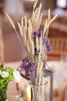 Yes! Wheat in centerpieces... yes!!