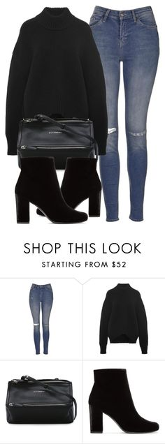 """""""Untitled #6133"""" by laurenmboot ❤ liked on Polyvore featuring Topshop, Brock Collection, Givenchy and Yves Saint Laurent"""