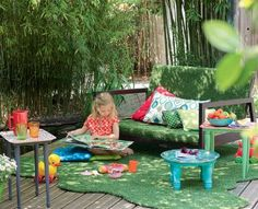 Du mobilier de terrasse en récup//furniture for a patio made with salvage