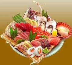 Sushi and Sashimi Arte Do Sushi, Sushi Art, Sushi Love, My Sushi, Wine Recipes, Seafood Recipes, Asian Recipes, Japanese Food Sushi, Sashimi Sushi
