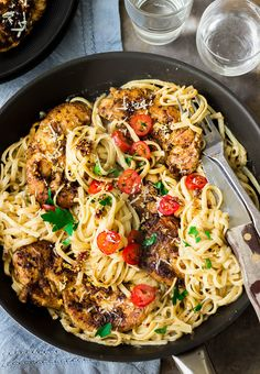 Our family's favorite! Looking for an easy and inexpensive pasta recipe to make? Try this 20 min spicy creamy Cajun chicken pasta. A quick and easy restaurant-quality Cajun pasta recipe! Spicy Chicken Pasta, Creamy Cajun Pasta, Chicken Pasta Recipes, Chicken Meals, Cooking For A Crowd, Cooking On A Budget, Food Budget, Cooking Ideas, Quick Restaurant