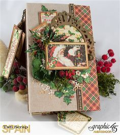 Tati, Christmas Planner, St. Nicholas, product by Graphic 45.                                                                                                                                                                                 More