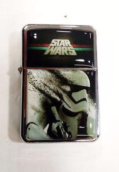Star Wars Storm Trooper Windproof Refillable Flip Top Oil Lighter