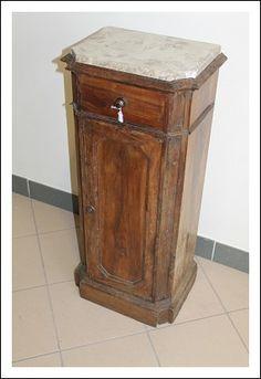 Comò Antico neoclassico epoca 700! Colonna mobiletto noce marmo antiquariato, antico
