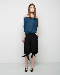 Tsumori Chisato / Silk Linen Top Tsumori Chisato / Knotted Cropped Pant Tsumori Chisato / Raffia Slip-On