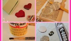 Hello, Ladies!  I have an easy Valentine craft for you today.  Valentine's Day and jewelry go together like peas and carrots.  (Or Forrest ...