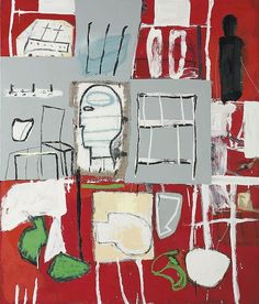 Mimmo Paladino Perfect Room 2006 oil on canvas Painting Studio, Painting & Drawing, Pictures At An Exhibition, Jean Michel Basquiat, Outsider Art, Print Artist, Figure Painting, Figurative Art, Art Images