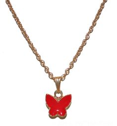 Butterfly Necklace-Red