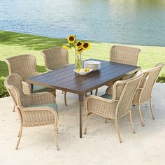 Beautiful Hampton Bay Outdoor Dining Table