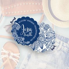 Show off your boho side with this #socialcirclecards design