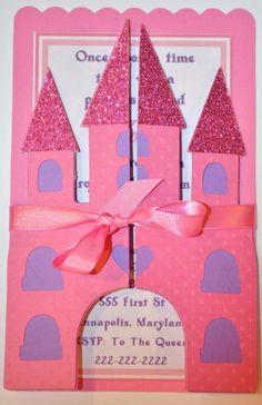 Princess castle invitation.   http://www.etsy.com/shop/KhoshtinatDesigns/