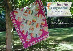 Orange Peel quilt tutorial in Kate Spain Canyon Fabric