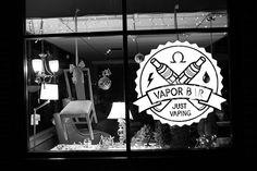 High quality adhesive vinyl wall//window vape shop decal Vape Shop Window Sign