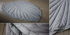 PEAR TREE LEAF Material: organic linen canvas, fairtrade organic cotton wadding Colour: pebble Size: 130 x 220 cm Price:€540,00