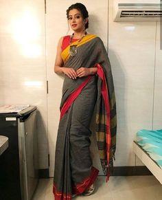 1de53970b95c53 Indian Actress Priyamani Latest Stills In Transparent Green Saree Simple  Hairstyle For Saree
