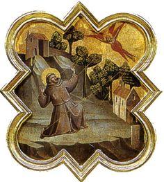 Taddeo Gaddi - Formelle dell'armadio della sacrestia di Santa Croce: Stimmate di san Francesco  - 1335-1340 circa - Galleria dell'Accademia a Firenze.