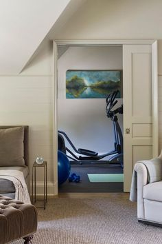 15 Best Home Gym Ideas in 2020 - Home Gym Design Small Media Rooms, Small Spaces, Chinoiserie, Media Room Seating, Small Home Gyms, Gym Room At Home, Media Room Design, Home Gym Design, Zen Room