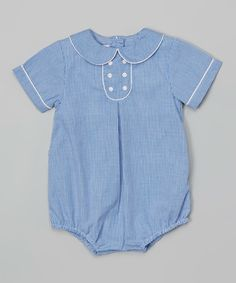 Look at this Petit Ami Navy & White Bubble Bodysuit - Infant on #zulily today!