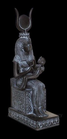 Egyptian Goddess Isis with her son Horus and the inspiration for the Christian / Catholic version with Mary and Jesus. Egyptian Goddess, Ancient Egyptian Art, Ancient History, Cairo, Egyptian Mummies, Egypt Art, Early Middle Ages, Ancient Beauty, Ancient Artifacts