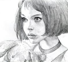 Sketch by Iain McCaig. Natalie Portman in The Professional