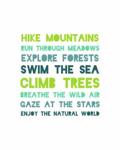 Very good ideas! #Hike #Mountains #Summercamp #Climb #Explore #Getoutdoors Do all this (except for the sea thing) at http://covenantheights.org/#/summer-camp