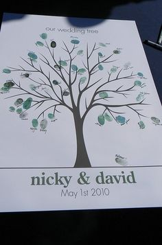 guestbook wedding tree.