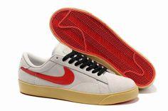 buy online 5b0b4 fbd8c Mode Chaussure Nike Blazer Homme Low Classic Ac ND Daim Beige Rouge Export  Vente