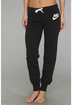 f4538298a66 Nike Rally Tight Pant (Black Heather Sail) Women s Casual Pants Nike Outfits
