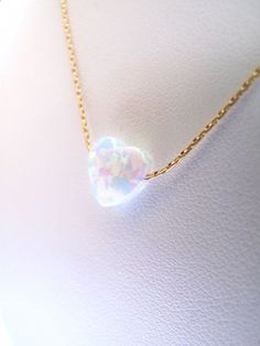 Pretty Necklaces, Cute Necklace, Cute Jewelry, Gold Necklaces, Gemstone Jewelry, Gold Jewelry, Jewelery, Opal Gemstone, Heart Jewelry