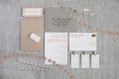 Julia & Kieran - Paper & Poste Custom Invitation & Additional Pieces Custom Stationery, Custom Invitations, Rsvp, Print Design, Bullet Journal, Paper, Stationary, Inspiration, Biblical Inspiration