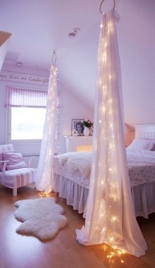 cheap bedroom lighting. Diy Crafts Decorate Your Bedroom With Some Christmas Lights And Sheer Curtains. If U Dont Have A Slanted Roof Just Add Another Two At The Posts (can Change Cheap Lighting S
