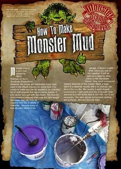 Monster mud recipe for outdoor Halloween props. Halloween Town, Outdoor Halloween, Halloween Projects, Diy Halloween Decorations, Holidays Halloween, Halloween Crafts, Happy Halloween, Halloween Graveyard, Halloween Stuff