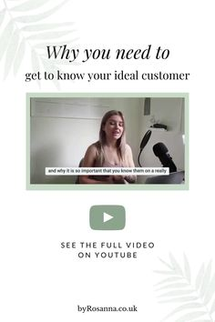 In this video I explain the importance of getting to know your ideal customer on a deeper level. Plus I'll be busting some myths surrounding these types of branding exercises too!