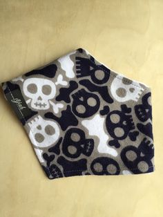 A personal favorite from my Etsy shop https://www.etsy.com/listing/222182926/bandana-bib-in-navy-blue-soft-flannel