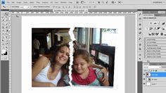 Efeito de foto rasgada no photoshop